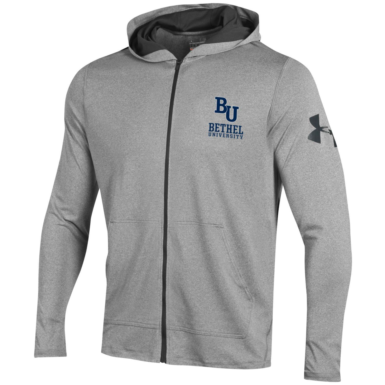 Under Armour Gray Full-Zip Athletic Hoodie